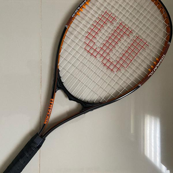 Raquete tênis wilson titanium xl