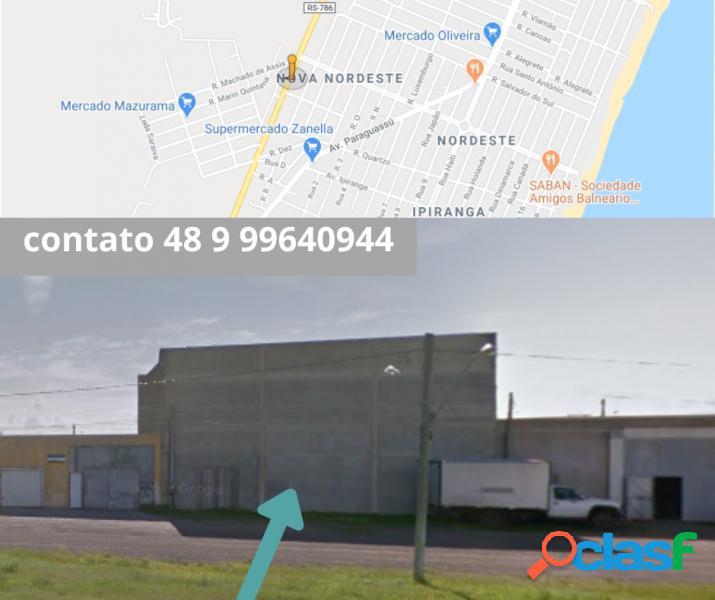 Salão comercial com 300 m2 em imbé - nordeste por 550 mil à venda