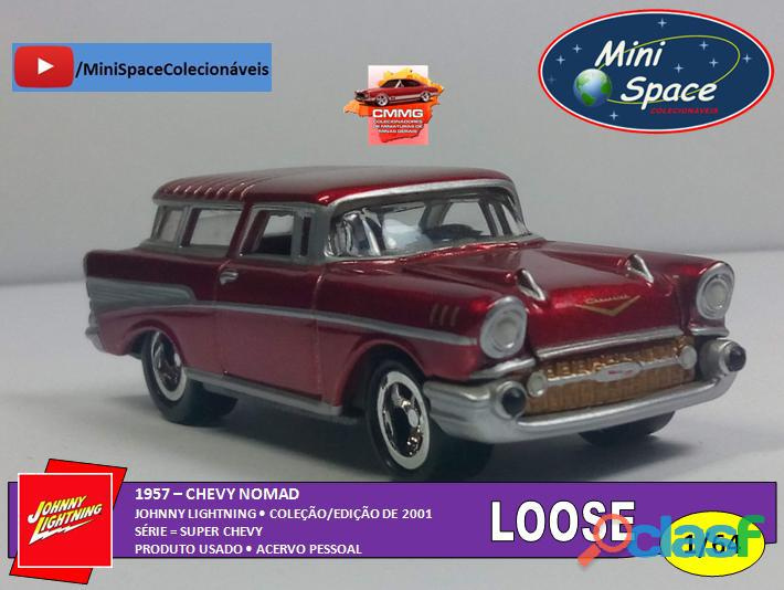 Johnny lightning 1957 chevy nomad vermelho 1/64   loose
