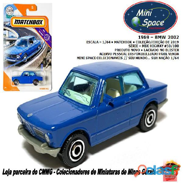 Matchbox 1969 bmw 2002 azul 1/64