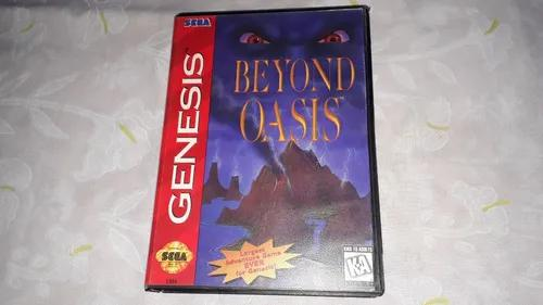 Beyond oasis completo mega drive genesis caixa recortada