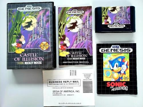 Castle of illusion starring mickey mouse mega drive original