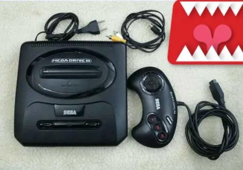 Console mega drive 3 + 1 controle orig. + jogo paral. juju