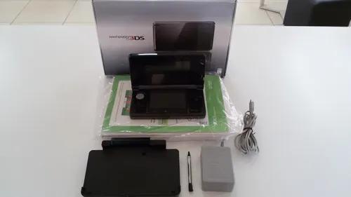 Console nintendo 3ds preto na caixa completo usado madgames