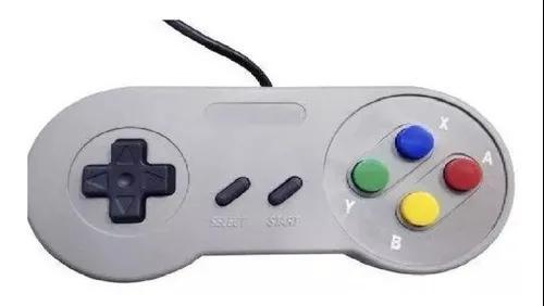 Controle super nintendo snes joystick pc usb jogos retro