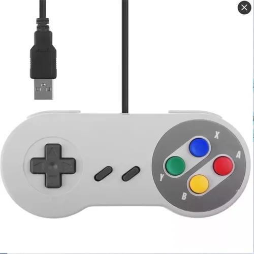 Controle Super Nintendo Usb Pc Snes Video Game Retro Jogos