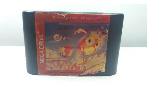 Fita dynamite headdy tec toy mega drive jogo raro! barato