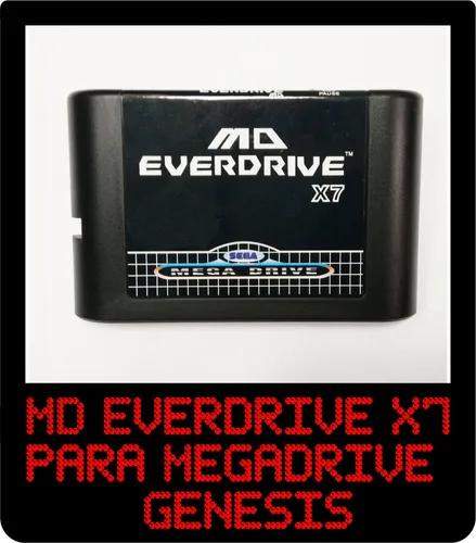 Flashcard md everdrive x7 mega drive c/ 8gb