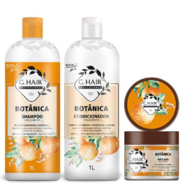 Kit g.hair shampoo 1l + condicionador 1l+ máscara 500g