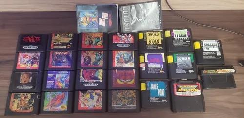 Lote 24 jogos mega drive original