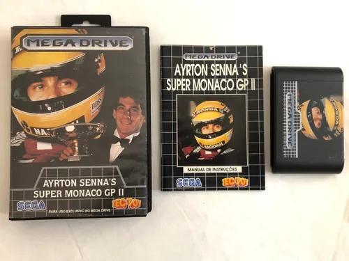 Mega drive: ayrton senna super monaco gp 2 completo tectoy