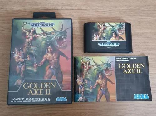 Mega drive jogo original completo cartucho golden axe ii 2