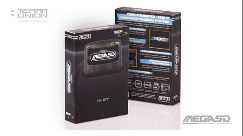 Mega sd flashcard roda sega cd pier solar cartão sd c jogos