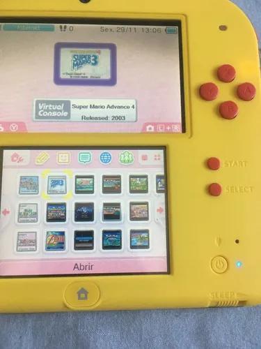 Nintendo 2ds desbloqueado (mario maker) 32gb vários jogos