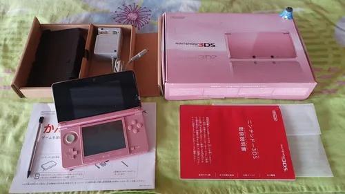 Nintendo 3ds console rosa japonês completo