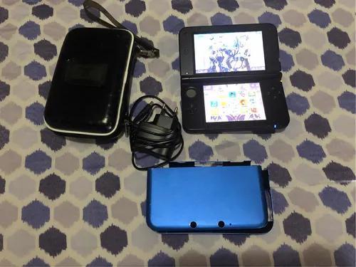 Nintendo 3ds desbloqueado+capa+carregador+hard case metalic