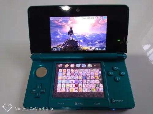 Nintendo 3ds edição azul aqua 32gb 300 jogos