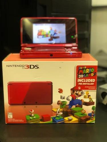 Nintendo 3ds vermelho + 9 jogos originais+case