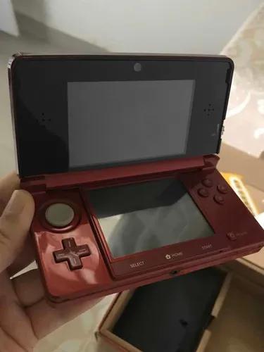 Nintendo 3ds vermelho usado na caixa completo