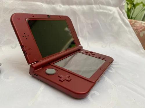 Nintendo 3ds xl + capa + 6 jogos originais