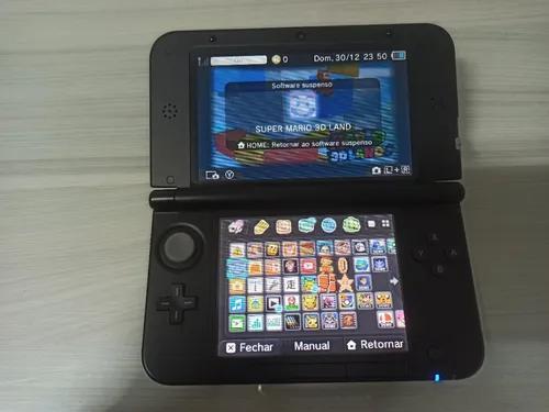 Nintendo 3ds xl com 9 jogos mídia física leia