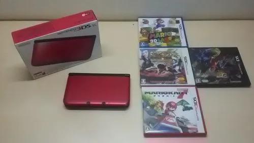 Nintendo 3ds xl desbloqueado + 4 jogos