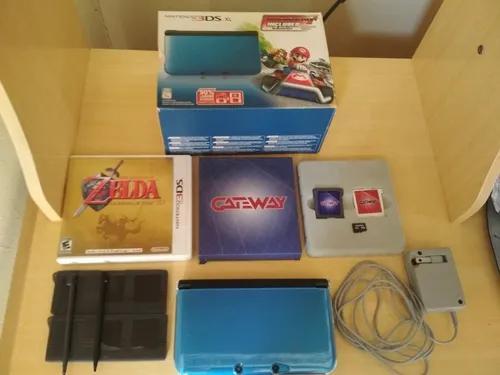 Nintendo 3ds xl desbloqueado com 305 jogos+flashcart gateway