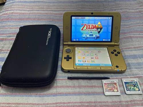 Nintendo 3ds xl edição zelda + 2 jogos de pok