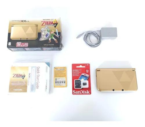 Nintendo 3ds xl zelda edition na caixa 100%+ garantia + 32gb