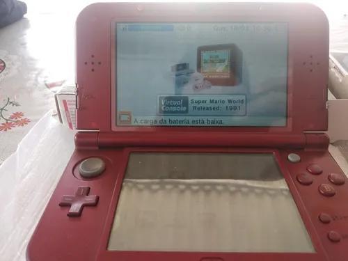 Nintendo new 3ds desbloqueado vermelho e carregador original
