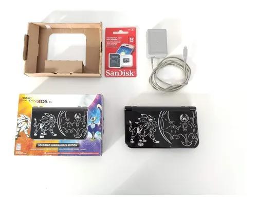 Nintendo new 3ds xl solgaleo e lunala sun moon na caixa 100%