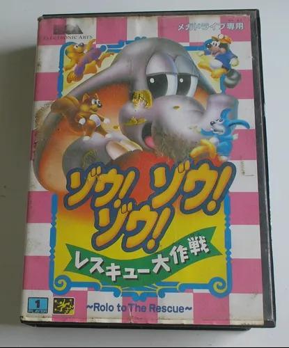 Rolo to the rescue (japonesa) mega drive original usada