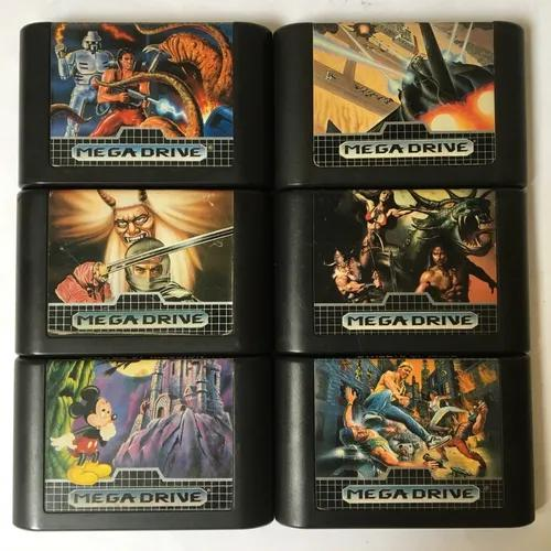 Sega mega drive lote com 6 jogos originais tectoy - só