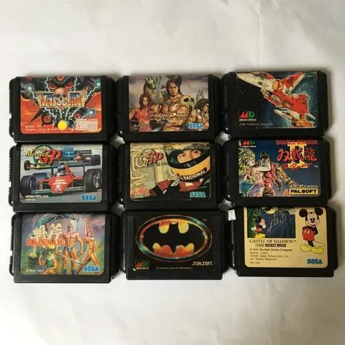 Sega mega drive lote com 9 jogos originais - golden axe 3...
