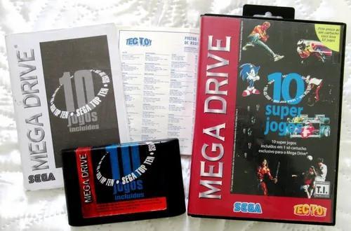Sega top ten - 10 super jogos - original tectoy - completo