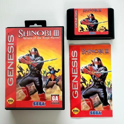 Shinobi 3 original cib completa mega drive sega genesis