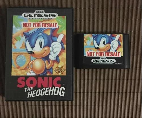 Sonic not for resale mega drive original