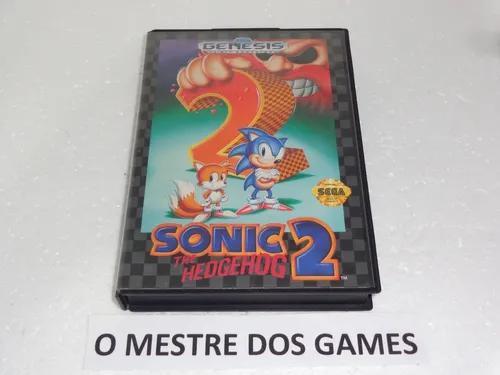 Sonic the hedgehog 2 somente a caixa e encarte originais md