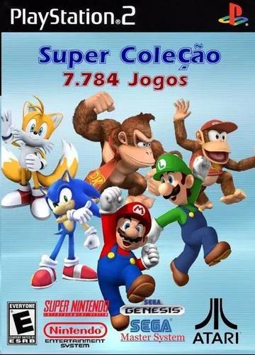 Super Coleção 7800 Jogos Nitendo, Mega Drive, Atari Para