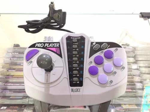 Super nintendo e mega drive controle pro player naki usado