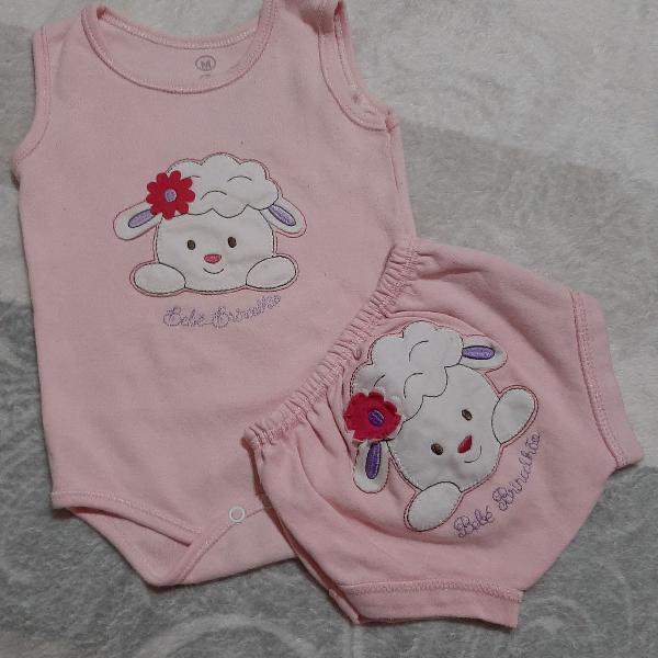 Trio de body bebê brincalhão