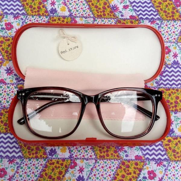 Armação de óculos grau quadrada grande geek