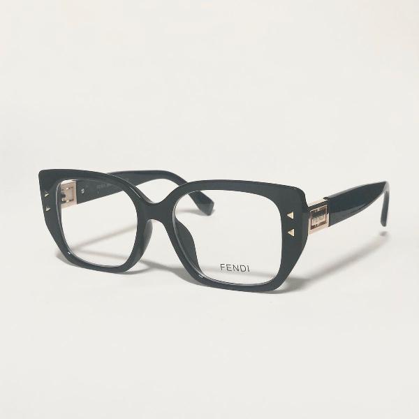 Armação para óculos de grau feminina fendi preto brilho