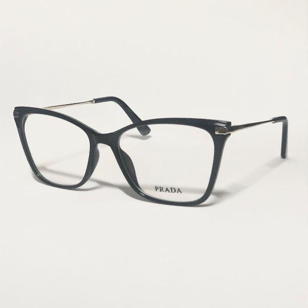 Armação para óculos de grau feminina prada preto brilho