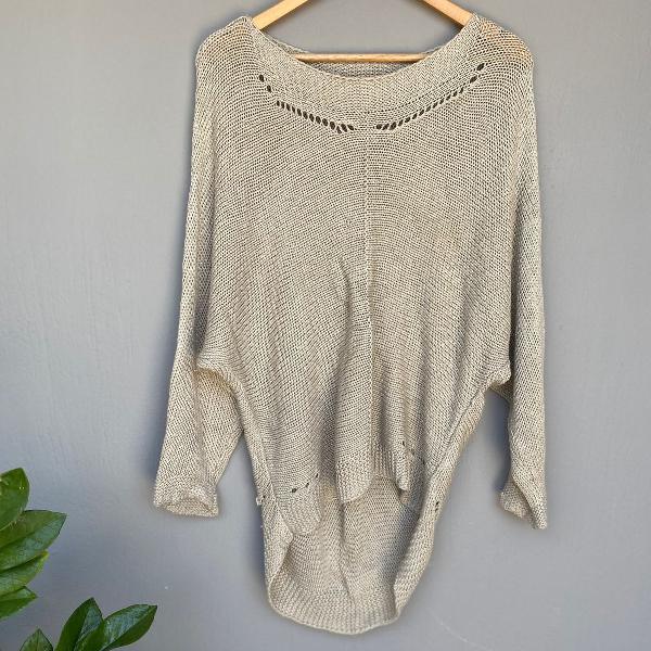 Blusa de lã metálico