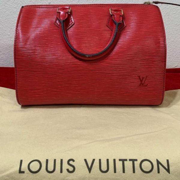 Bolsa louis vuitton speedy original vermelha epi(30 cm)