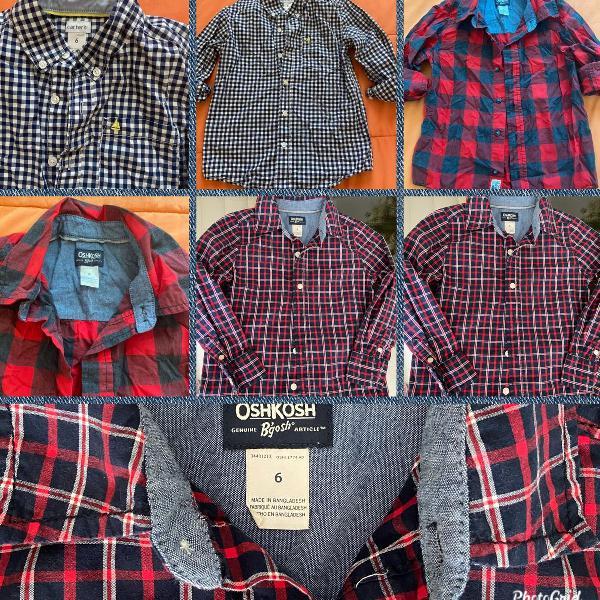 Camisas importadas novas carters e oshkosh tamanho 6, 2 por