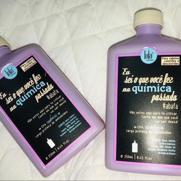 Shampoo lola cosmetics carga proteica de aminoácidos