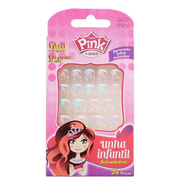 Unhas posticas infantil pink by kiss fpspo3