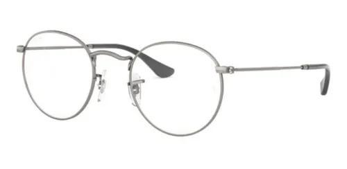 Armacao oculos grau ray ban round rb3447v 2620 50 grafite
